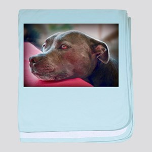 Loving Pitbull Eyes baby blanket
