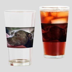 Loving Pitbull Eyes Drinking Glass
