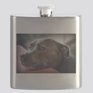 Loving Pitbull Eyes Flask