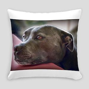 Loving Pitbull Eyes Everyday Pillow