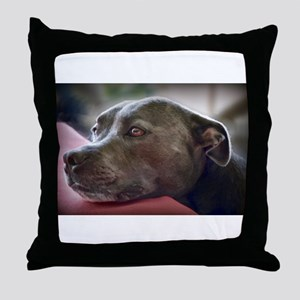 Loving Pitbull Eyes Throw Pillow