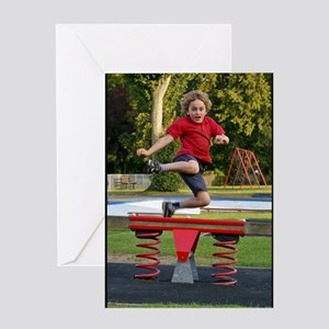 Playground Frolic - original 6:9 - Greeting Cards