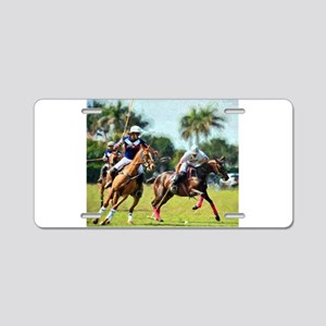 Polo Players and Ponies Aluminum License Plate