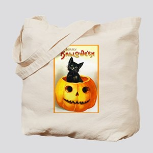 Jackolantern Black Cat Tote Bag