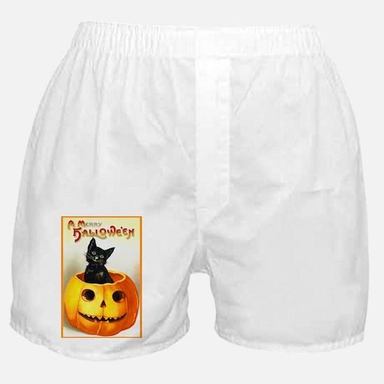 Jackolantern Black Cat Boxer Shorts