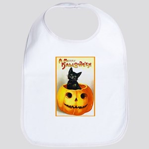 Jackolantern Black Cat Bib