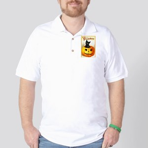 Jackolantern Black Cat Golf Shirt