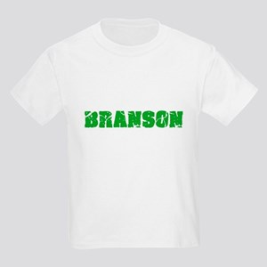 Branson Name Weathered Green Design T-Shirt