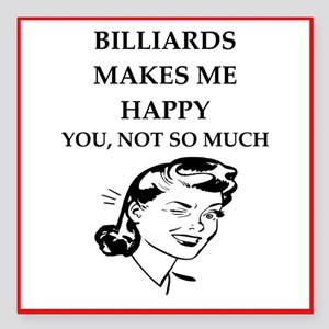 "billiards Square Car Magnet 3"" x 3"""