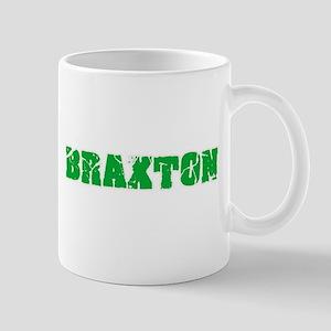 Braxton Name Weathered Green Design Mugs