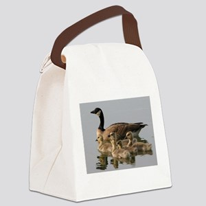 Mother Goose and Her Goslings Canvas Lunch Bag