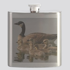 Mother Goose and Her Goslings Flask