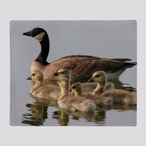 Mother Goose and Her Goslings Throw Blanket