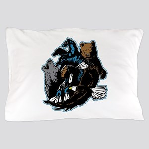 Native American Indian and Wildlife Pillow Case