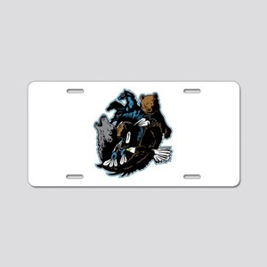 Native American Indian and Aluminum License Plate