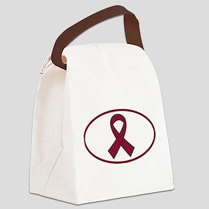 Burgundy Multiple Myeloma Canvas Lunch Bag