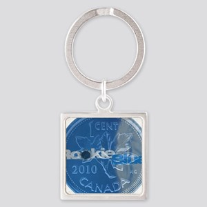 Rookie Blue Bullet Square Keychain