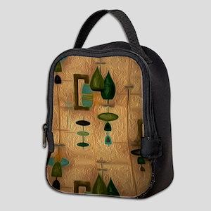 Atomic Age in Gold Neoprene Lunch Bag