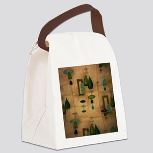 Atomic Age in Gold Canvas Lunch Bag