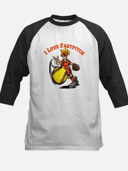 Love Fastpitch Kids Baseball Jersey