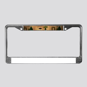 Atomic Age in Gold License Plate Frame