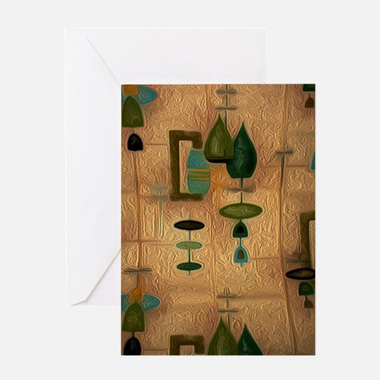 Atomic Age in Gold Greeting Cards