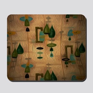 Atomic Age in Gold Mousepad