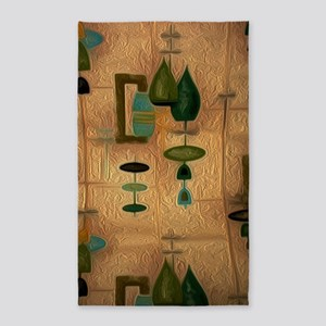 Atomic Age in Gold Area Rug