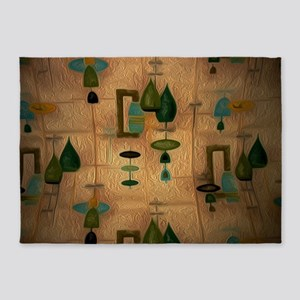 Atomic Age in Gold 5'x7'Area Rug