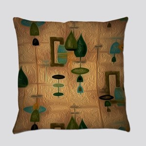 Atomic Age in Gold Everyday Pillow