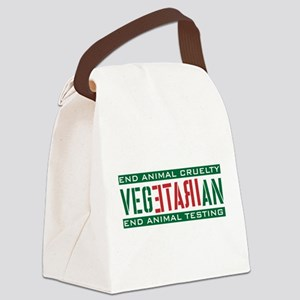 Irate Vegetation Animal Cruelty Canvas Lunch Bag