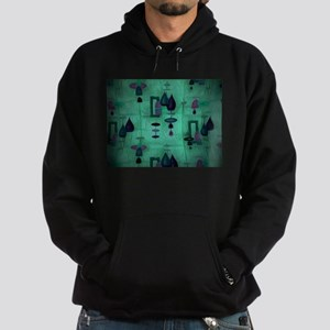 Atomic Age in Teal. Hoodie (dark)