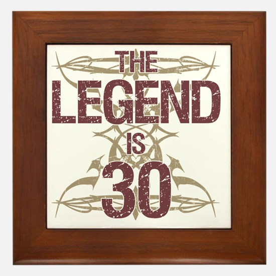 Men's Funny 30th Birthday Framed Tile