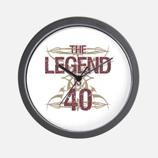 Men's Funny 40th Birthday Wall Clock