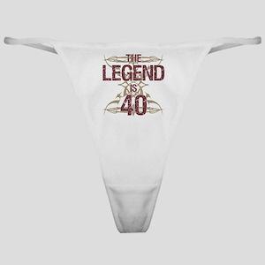 Men's Funny 40th Birthday Classic Thong