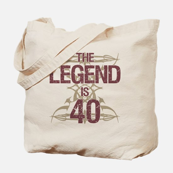 Men's Funny 40th Birthday Tote Bag