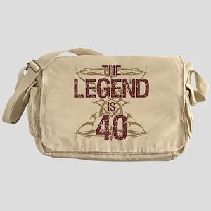 Men's Funny 40th Birthday Messenger Bag