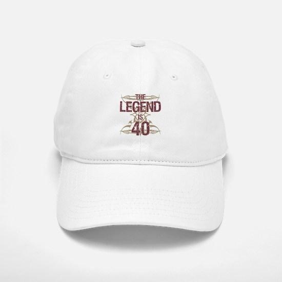 Men's Funny 40th Birthday Baseball Baseball Cap