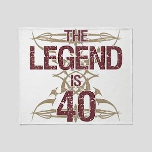 Men's Funny 40th Birthday Throw Blanket