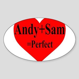 Andy & Sam Sticker