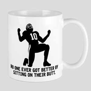 Sit on Butt Football Mugs