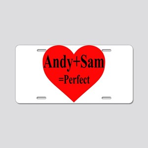 Andy & Sam Aluminum License Plate