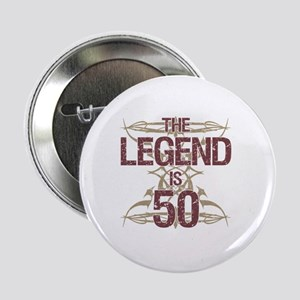 "Men's Funny 50th Birthday 2.25"" Button"