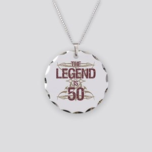 Men's Funny 50th Birthday Necklace Circle Charm