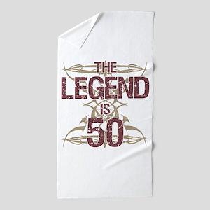 Men's Funny 50th Birthday Beach Towel