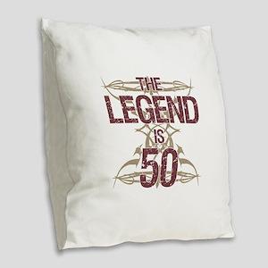 Men's Funny 50th Birthday Burlap Throw Pillow