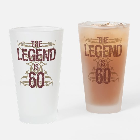 Men's Funny 60th Birthday Drinking Glass