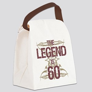 Men's Funny 60th Birthday Canvas Lunch Bag