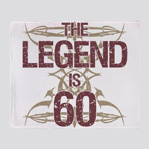 Men's Funny 60th Birthday Throw Blanket