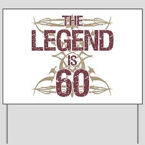 Men's Funny 60th Birthday Yard Sign